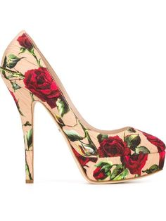 Shop Dolce & Gabbana rose print brocade pumps in Julian Fashion from the world's best independent boutiques at farfetch.com. Shop 300 boutiques at one address.