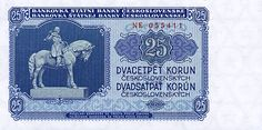 CzechoslovakiaP84b-25Korun-1953_f Commemorative Coins, Old And New, Personalized Items, Retro, European Countries, Czech Republic, Banknote, Crowns, Photos