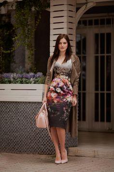TIE BOW-TIE: GREY FLORAL DRESS