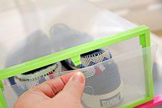Clair Transparent Tiroir Cas Boîtes à Chaussures En Plastique De Stockage…