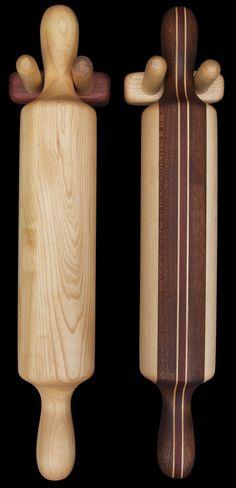 hardwood+creations | ... Wall Mountable Rolling Pin Holder - David Levy Hardwood Creations