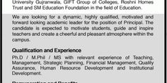 Job Opportunity of Principal (GIFT Group of Colleges)  