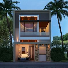 50 Small Two-storey House Designs That Can Be Fitted In Small Lot Area Modern Small House Design, Simple House Design, Small Modern Home, House Front Design, Minimalist House Design, Modern House Plans, Small Modern House Exterior, Minimalist Interior, Minimalist Bedroom
