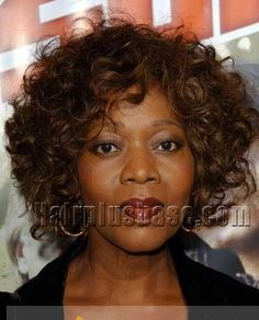 Glitter Short Wavy / Curly Sepia African American Lace Front Wigs for Women 100% Human Hair #hairplusbase #wig