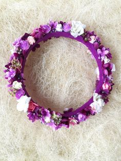 Flower Crown Flower Wreath Wedding Headband by StaroFlowerCrowns