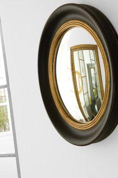 Miroir rond Oeil de sorcière en résine noir Athezza