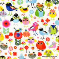 Fabric... Birds of a Feather by Timeless Treasures