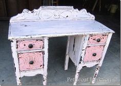 Pretty in Pink Vintage Vanity from Petticoat Junktion