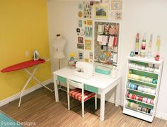 Craftaholics Anonymous® | Craft Room Tour - Virginia at Fynes Designs  Good working 'triangles'
