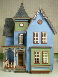Dollhouse blue & green