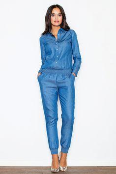 Купить женский летний комбинезон с длинным рукавом M314 FIGL | интернет-магазин…