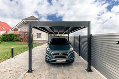 Carports Alu Carport, Carport Aus Aluminium, Carport Modern, Pergola, Carports, Fence, Home Decor, Carport Prices, Aluminum Fence