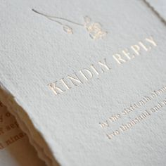 Really fine type on this RSVP card which has been hot foil printed onto handmade paper.  Love the detail! Calligraphy Wedding Place Cards, Calligraphy Save The Dates, Foil Wedding Invitations, Invites, Wedding Place Settings, Beautiful Calligraphy, Rose Gold Foil, Wedding Paper, Letterpress