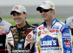 Kevin Harvick and Jimmie Johnson... in 2003. #ThrowbackSunday