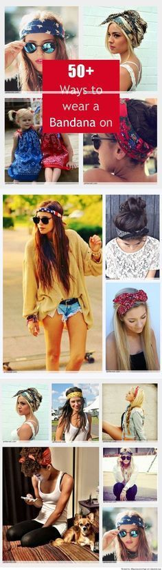 bandanas just add flare plus they're so handy for those dirty hair days! #hair # bandanas #beauty