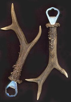 deer antler bottle openers