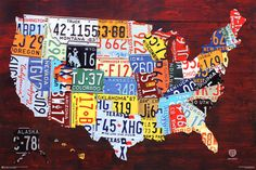 Maps of the United States Posters at AllPosters.com