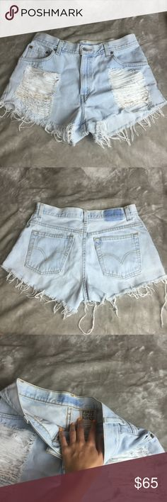 """🚫Sold🚫LF Distressed Vintage Levi's High Waisted Great condition 