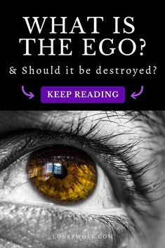 What REALLY is the ego? We hear about it a lot in spirituality and psychology self-help circles. Letting go of the ego has come to be synonymous with destroying it. But to what degree do we need to get rid of it? Spiritual Psychology, Spiritual Reality, Spiritual People, Spiritual Path, Spiritual Awakening, Spiritual Growth, Letting Go Of Ego, What Is Ego, Empath Traits