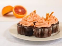 Chocolate Blood Orange Cupcakes