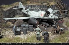 The Luftwaffe in Scale: Messerschmitt Me 262 B-1/U1, Me 262 A-2a - Diorama (1:48) built by Christian Jakl