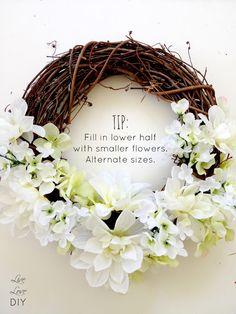 DIY Spring Flower Wreath - Easy Tutorial!