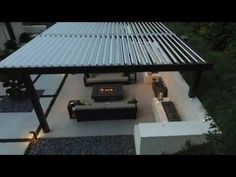 Outdoor Patio Cover Modernizes A Midcentury Modern Home   YouTube Watch  This Amazing Equinox Louvered Roof