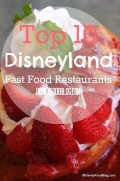 Top 10 Disneyland Fast Food Joints - my favorite places! Disneyland Restaurants, Disneyland Food, Disneyland Vacation, Disneyland California, Disney California Adventure, Disney Vacations, Disneyland Dining, California Trip, Disney Tips