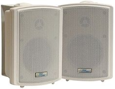 Universal Mount Pyle PDWR63 Dual Waterproof Outdoor Speaker System 6.5 Inch Pair of Weatherproof Wall or Ceiling Mounted White Speakers w//Heavy Duty Grill for Use in The Pool Patio or Indoor
