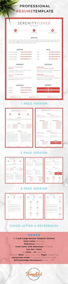 Modern  creative Resume, CV Template; Resume Templates for Word