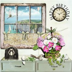 Window view pic, from net page from kit called Shabby Rose