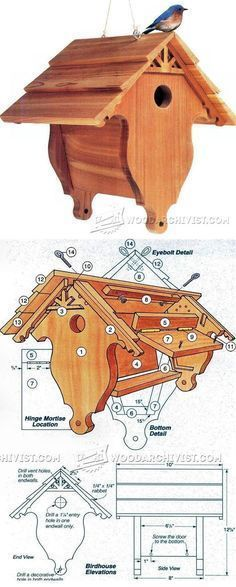 Birdhouse Plans - Outdoor Plans and Projects | WoodArchivist.com #woodworkingtips
