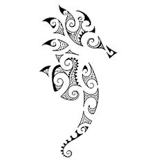 like the concept. TATTOO TRIBES - Shape your dreams, Tattoos with meaning - seahorse, hippocampus, maori, patience, tenacity, father, family