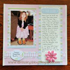 Traditional scrapbook layout using Pretty in Pastel designer paper pack