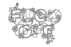 Adult Coloring Book Swear Words On Behance