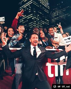 """Gerard Butler❤︎ on """"A FAMILY MAN"""" @afamilymanmovie's Instagram """"Throwback to September when we screened at the Toronto International Film Festival.  #Repost…"""