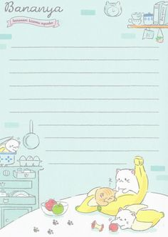 Q-lia Bananya Memo ( Wallpaper Qoutes, Cute Wallpaper Backgrounds, Cute Wallpapers, Memo Notepad, Note Doodles, Pen Pal Letters, Note Memo, Study Planner, Cute Notes
