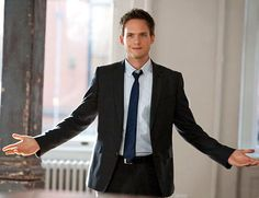 Patrick J. Adams, I love you!  Juuuuust kidding; I don't know you.  BUT you do look quite fine, and your character in Suits is my dream man.  Bar the weed habit, but, hey, I too am flawed.