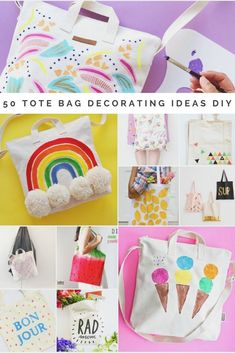 416b2d5ce230 50 DIY tote bag decorating ideas. The only guide you need to DIY a blank