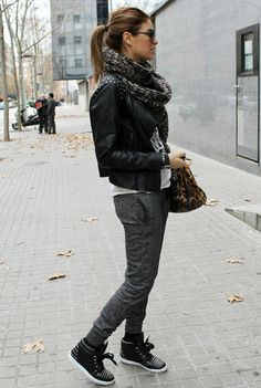 Sporty outfits for winter