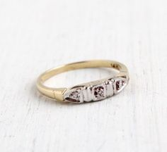 Antique 14k Yellow & White Gold Wedding Band by MaejeanVintage, $225.00