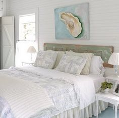 Seaside bedroom...a girl can dream but it ain't happening with a sawyer for a husband.
