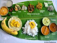 Kerala onam sadya recipes with sadhya serving order - Onam festival Recipes with step by step pictures Veg Recipes, Indian Food Recipes, Vegetarian Recipes, Cooking Recipes, Ethnic Recipes, Kerala Recipes, Indian Foods, Kerala Food, South Indian Food