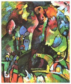 Kandinsky. Picture with archer. 1909. Huile sur toile. Guggenheim, NY ...has its origins in Art Nouveau