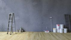 blank wall and painting tools Painting Tools, Blank Walls, Illustration, White Walls, Illustrations