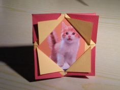 DIY Picture Frames DIY How to make an origami picture frame DIY Picture Frames