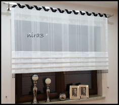 Vintage Kitchen Curtains, Backyard Garden Design, Roman Blinds, Window Treatments, Valance Curtains, Sweet Home, Home Appliances, Windows, Modern