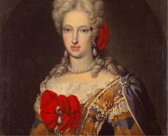 Maria Anna of the Palatinate Neuberg, second wife of Charles II of Spain 17th Century Fashion, 18th Century, Memento Mori Art, Art Deco Diamond, Diamond Brooch, Spanish Royalty, Baroque Art, Baroque Fashion, Historical Pictures