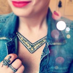 Vintage Glam necklace #style #glam #bling