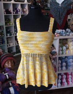Crochet Peplum Tank Top - Free Pattern